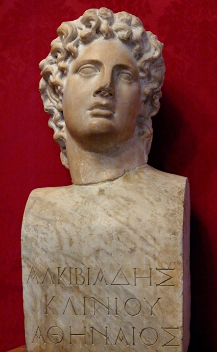 Bust of Alcibiades at the Capitoline Museum