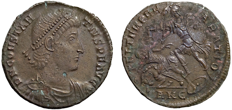 Bronze coin of Constantius II