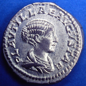 Coin portrait of Plautilla