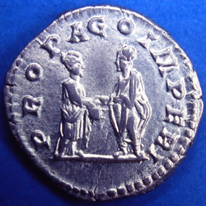 Denarius of Plautilla - reverse celebrating her marriage to Caracalla.