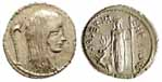 Roman Republic denarius of 48 BC