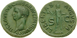As of Claudius struck in Rome