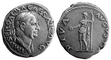 Portrait coin of Galba