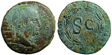 Provincial bronze coin of Galba