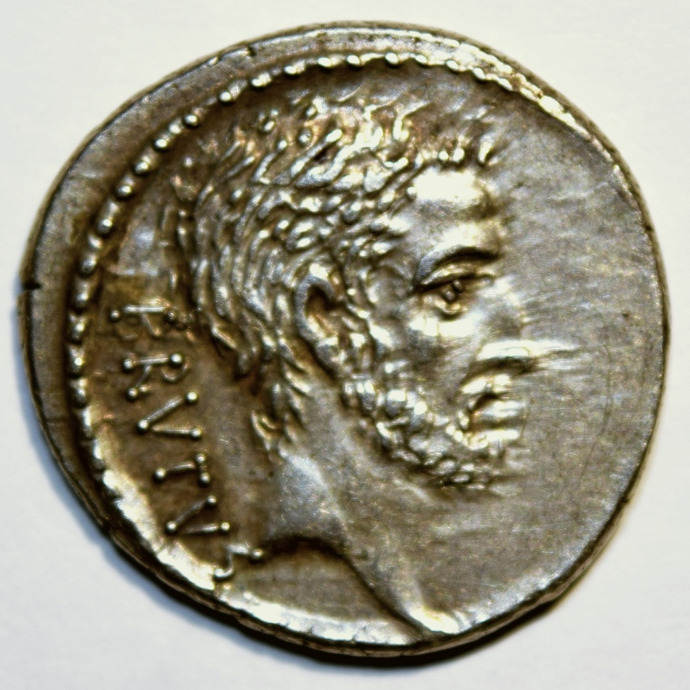 Denarius with a bust of Lucius Iunius Brutus