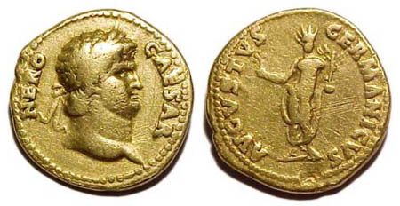 Gold aureus of Emperor Nero