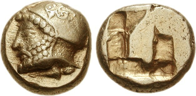 Phokaia electrum hekte depicting Ares