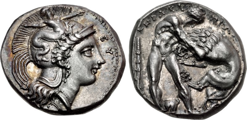 Herakleian nomos with head of Athena