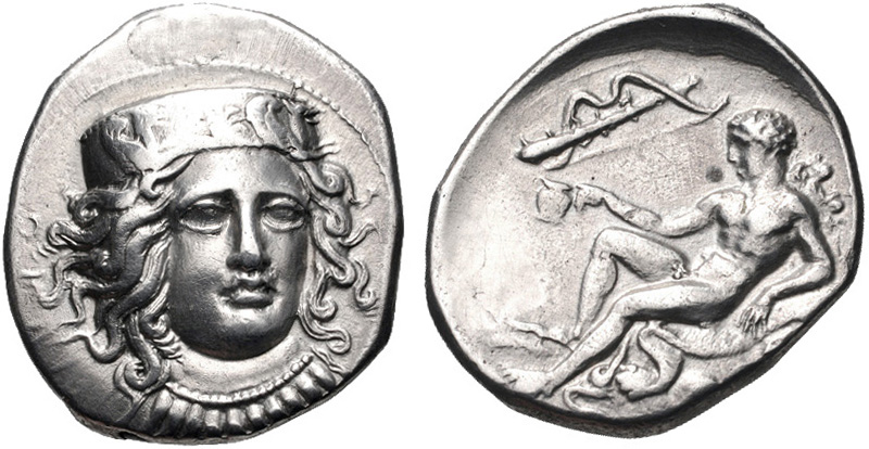 Kroton silver nomos depicting Hera