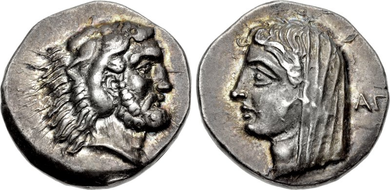 Kos didrachm with head of Herakles