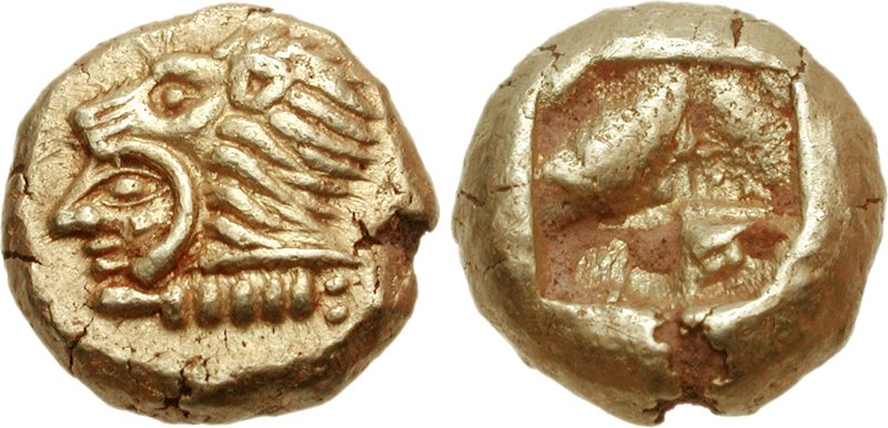 Erythrai electrum hekte with head of Herakles