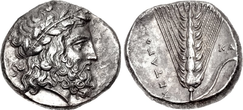 Metapontion silver nomos depicting Zeus
