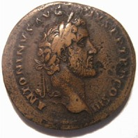 Coin portrait of Emperor Antoninus Pius