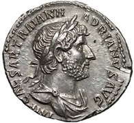Coin portrait of Emperor Hadrian
