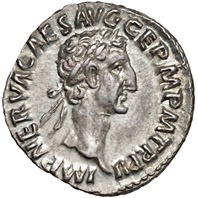 Coin portrait of Emperor Nerva